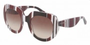 Dolce & Gabbana DG4191P Sunglasses Sunglasses - 272113 Stripes Brown Black White / Brown Gradient
