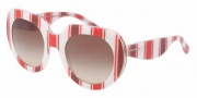 Dolce & Gabbana DG4191P Sunglasses Sunglasses - 272213 Stripes Red Brown White / Brown Gradient