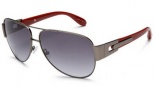 Marc By Marc Jacobs MMJ 107/S Sunglasses Sunglasses - Dark Ruthenium / Red