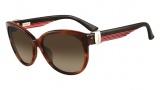 Salvatore Ferragamo SF651S Sunglasses Sunglasses - 216 Striped Brown