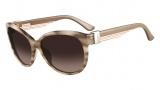Salvatore Ferragamo SF651S Sunglasses Sunglasses - 279 Striped Beige