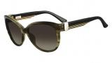 Salvatore Ferragamo SF651S Sunglasses Sunglasses - 319 Striped Khaki