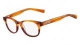 Nike 7204 Eyeglasses Eyeglasses - 220 Blonde Horn / Team Red