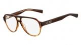 Nike 7211 Eyeglasses Eyeglasses - 220 Layered Dark Brown Horn
