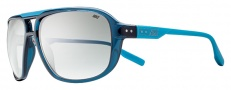 Nike MDL. 205 EV0718 Sunglasses Sunglasses - 442 Squadron Blue / Neon Turquoise / Gradient Smoke Lens