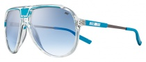 Nike MDL. 245 EV0728 Sunglasses Sunglasses - 944 Clear / Neon Turquoise / Blue Gradient Lens