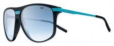 Nike MDL. 250 EV0730 Sunglasses Sunglasses - 044 Matte Black / Neon Turquoise / Blue Gradient Lens