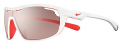Nike Road Machine E EV0705 Sunglasses Sunglasses - 166 White / Total Crimson / Max Speed Tint Lens