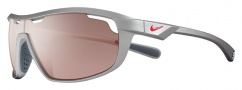Nike Road Machine E EV0705 Sunglasses Sunglasses - 566 Matte Platinum / Hyper Red / Max Speed Tint Lens