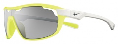 Nike Road Machine EV0704 Sunglasses Sunglasses - 715 Electric Yellow / White / Grey with Silver Flash Lens