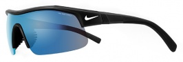 Nike Show X1 EV0674 Sunglasses Sunglasses - 020 Black / White / Grey with Blue Flash Lens