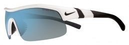 Nike Show X1 EV0674 Sunglasses Sunglasses - 110 White / Black / Grey with Blue Flash Lens