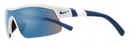 Nike Show X1 EV0674 Sunglasses Sunglasses - 125 White / Team Royal / Grey with Blue Flash Lens