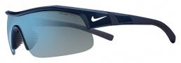 Nike Show X1 EV0674 Sunglasses Sunglasses - 420 Matte Obsidian / White / Grey with Blue Flash Lens