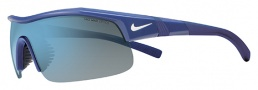 Nike Show X1 EV0674 Sunglasses Sunglasses - 440 Team Royal / White / Grey with Blue Flash Lens