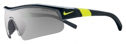 Nike Show X1 Pro EV0644 Sunglassses Sunglasses - 007 Black / Voltage / Grey with Silver Flash Outdoor Lens