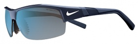 Nike Show X2 EV0675 Sunglasses Sunglasses - 420 Matte Obsidian / White / Grey with Blue Flash Lens