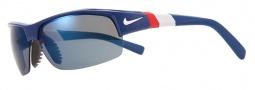 Nike Show X2 EV0675 Sunglasses Sunglasses - 445 Team Royal / White / Varsity Red / Blue Lens