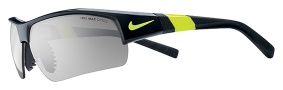 Nike Show X2 Pro EV0678 Sunglasses Sunglasses - 073 Black / Voltage / Grey with Silver Flash Outdoor Lens