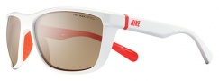 Nike Swag EV0653 Sunglasses Sunglasses - 162 White / Crimson Brown Lens