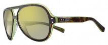Nike Vintage MDL. 98 EV0689 Sunglasses Sunglasses - 237 Tortoise / Green / Grey with Yellow Flash Lens