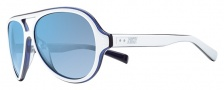 Nike Vintage MDL. 98 EV0689 Sunglasses Sunglasses - 105 White / Dark Blue / Blue Flash Lens