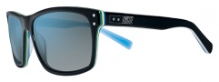 Nike Vintage 80 EV0632 Sunglasses Sunglasses - 001 Black / Light Blue / Grey with Blue Flash Lens