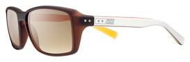 Nike Vintage 87 EV0639 Sunglasses Sunglasses - 212 Matte Brown / White / Brown Gradient Lens