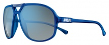 Nike Vintage 90 EV0658 Sunglasses Sunglasses - 403 Crystal Blue / Grey with Blue Flash Lens