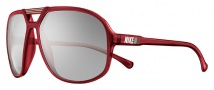 Nike Vintage 90 EV0658 Sunglasses Sunglasses - 603 Crystal Red / Grey with Silver Flash Lens