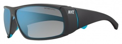 Nike Wrapstar EV0702 Sunglasses Sunglasses - 044 Matte Night Stadium / Neon Turquoise / Grey with Blue Flash Lens