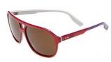 Nike MDL. 295 EV0746 Sunglasses Sunglasses - 130 White / Poison Green / White / Aqua with Silver Flash Lens