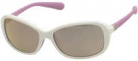 Nike Poise EV0741 Sunglasses Sunglasses - 144 White / Matte Laser Purple / Grey with Violet Flash