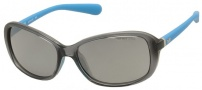 Nike Poise EV0741 Sunglasses Sunglasses - 037 Crystal / Dark Grey / Matte Neon Turquoise / Grey Silver Lens
