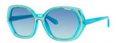 Kate Spade Dafina/S Sunglasses Sunglasses - 0X65 Aqua Gingham (TQ Turquoise Gradient Lens)