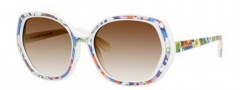 Kate Spade Dafina/S Sunglasses Sunglasses - 0X67 White Floral (Y6 Brown Gradient Lens)