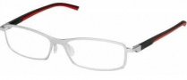 Tag Heuer Automatic 0804 Eyeglasses Eyeglasses - 002 Black - Red Temple / Pure Front