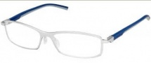 Tag Heuer Automatic 0804 Eyeglasses Eyeglasses - 004 Smart Blue - Light Grey Temple / Pure Front