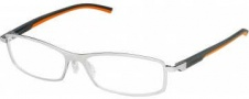 Tag Heuer Automatic 0804 Eyeglasses Eyeglasses - 009 Dark Grey - Orange Temple / Pure Front