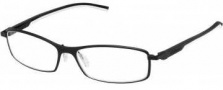 Tag Heuer Automatic 0804 Eyeglasses Eyeglasses - 011 Black - White Temple / Matte Black Front