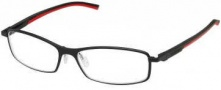 Tag Heuer Automatic 0804 Eyeglasses Eyeglasses - 012 Black - Red Temple / Matte Black Front