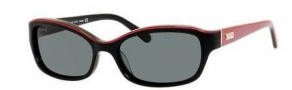 Kate Spade Rana/P/S Sunglasses Sunglasses - ES1P Pink Black (RA Gray Polarized Lens)
