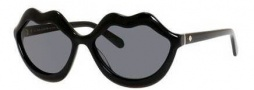 Kate Spade Seanna/S Sunglasses Sunglasses - 0807 Black (BN Dark Gray Lens)