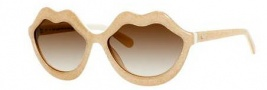 Kate Spade Seanna/S Sunglasses Sunglasses - 0W07 Cream Glitter (Y6 Brown Gradient Lens)