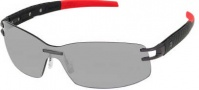 Tag Heuer Oracle Team L-Type LW 0453 Sunglasses Sunglasses - 123 Black - Red / Calfskin Carbon Temple / Anthracite Ceramic Frame / Grey Outdoor Flash Lens
