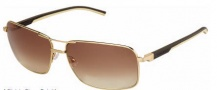 Tag Heuer Automatic Sun Vintage 0882 Sunglasses Sunglasses - 204 Dark Brown - Ivory Temple / Gold / Gradient Brown Outdoor Lens