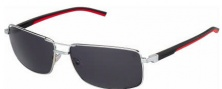 Tag Heuer Automatic Vintage 0883 Sunglasses Sunglasses - 102 Black - Red Temple / Palladium / Grey Outdoor Lens