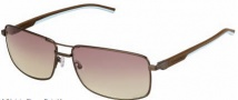 Tag Heuer Automatic Vintage 0883 Sunglasses Sunglasses - 115 Havana - Light Blue Temple / Dark / Gradient Brown Photochromic Lens