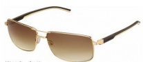 Tag Heuer Automatic Vintage 0883 Sunglasses Sunglasses - 204 Dark Brown - Ivory Temple / Gold / Gradient Brown Outdoor Lens