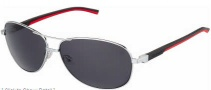 Tag Heuer Automatic Vintage 0884 Sunglasses Sunglasses - 102 Black - Red Temple / Palladium / Grey Outdoor Lens